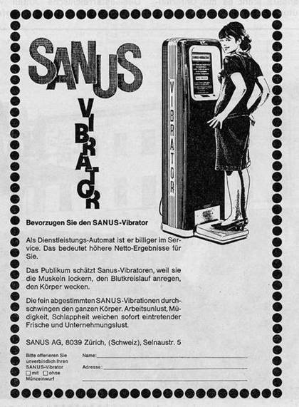 Bevorzugen sie den SANUS-Vibrator - Das Publikum schätzt Sanus-Vibratoren - durchschwingen den ganzen Körper