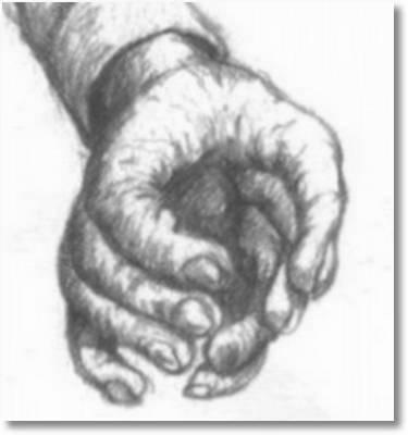 Die Hand eines Aliens mit seltsam gegenüber gelegten Fingerpaaren kann gewiss gut zugreifen, wenn sie es denn will