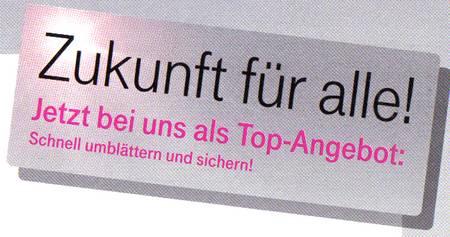 Telekom-Werbung: Zukunft füralle!