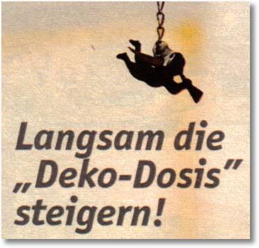 Langsam die Deko-Dosis steigern!