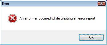 An error has occured while creating an error report...