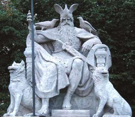 Odin auf seinem Thron