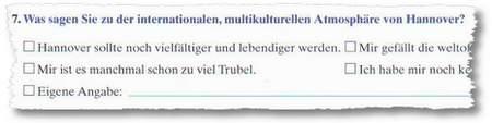 Was sagen Sie zu der internationalen, multikulturellen Atomsphäre von Hannover?