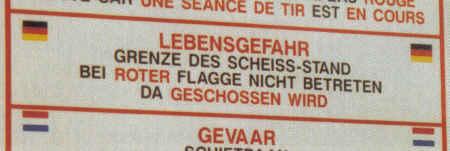 GRENZE DES SCHEISS-STAND BEI ROTER FLAGGE NICHT BETRETEN...