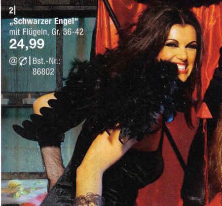 Schwarzer Engel mit Flügeln, Gr. 36-42, 24,99 Euro
