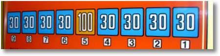 30 30 30 30 100 30 30 30 30 - 9 8 7 6 5 4 3 2 1
