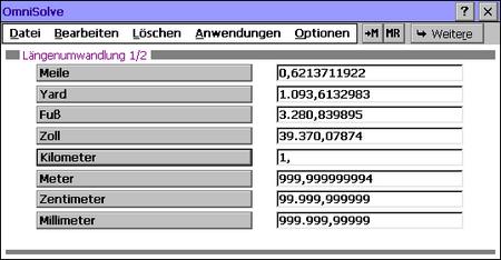 1km sind 999,99999994m - Rechenkünstler