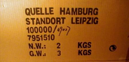 Quelle Hamburg Standort Leipzig