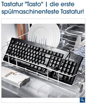 Tastatur Tasto: Die erste spülmaschinenfeste Tastatur