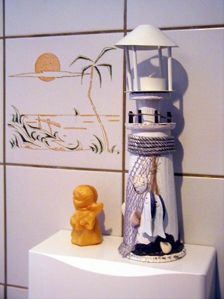 Leuchtturm mit Engel