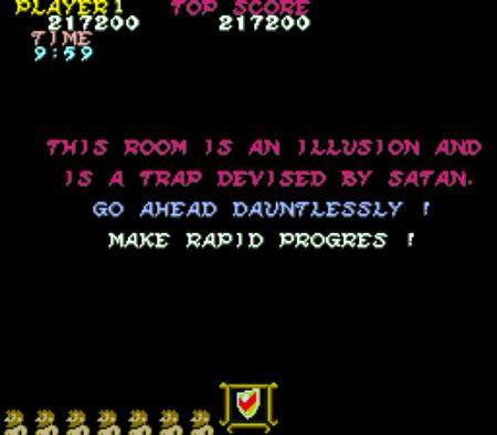 This room is a illusion and is a trap divised by Satan. Go ahead dauntlessly! Make rapid progress!