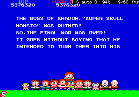 The Boss of The Shadow, Super Skull Monsta, was runined! So, the final war was over! It goes without saying that he intended to turn them into his...