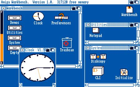 Workbench 1.0, Amiga OS, 1985