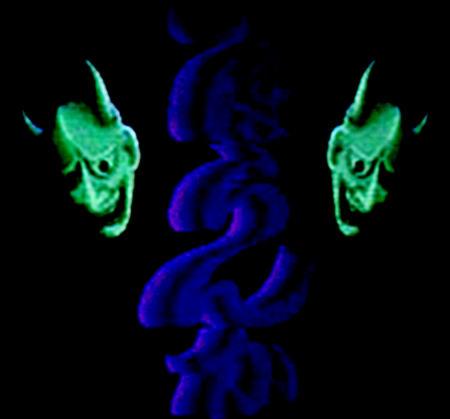 grüne blaudampf-hörnchen