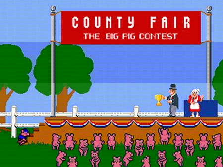 County Fair - The big pig contest