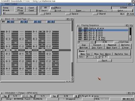 OctaMed auf dem Amiga