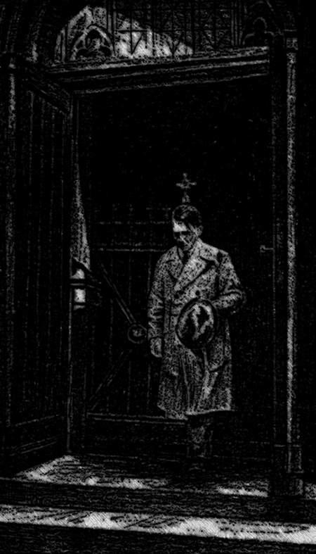 Adolf Hitler nach dem Gebet