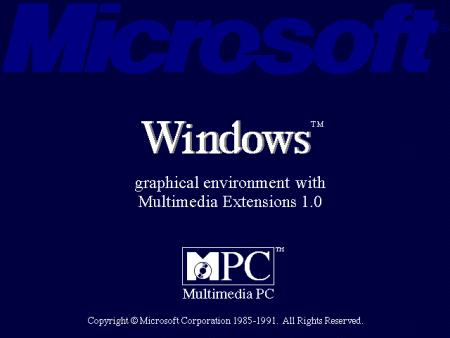 Microsoft Windows - graphical environment with multimedia extensions 1.0