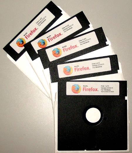 Installationsdisketten für den Firefox