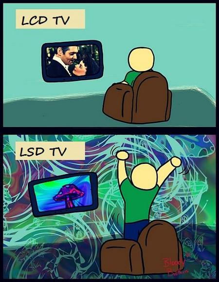 LCD TV, LSD TV - it's your choice...