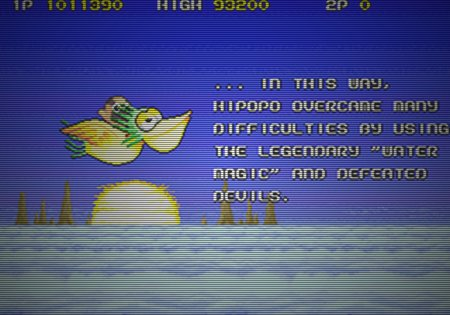 ... in this way, Hipopo overcame many difficulties by using the lagendary 'water magic' and defeated devils
