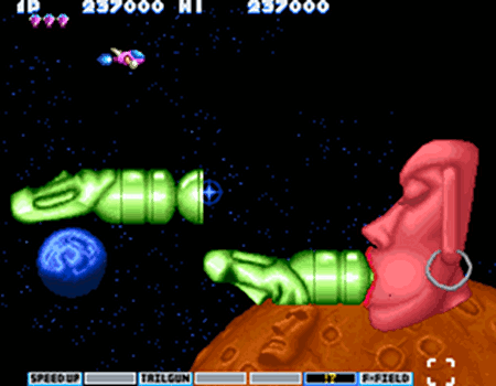 Screenshot aus Parodius