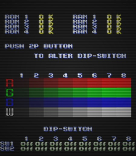 Push 2P Button to Alter DIP-Switch