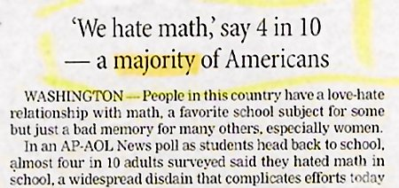 'We hate math' say 4 in 10 - a majority of Americans