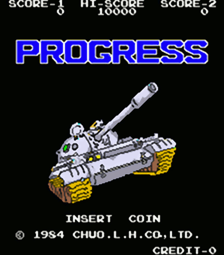 PROGRESS - INSERT COIN - (c) 1984 CHOU.L.H.CO,LTD.