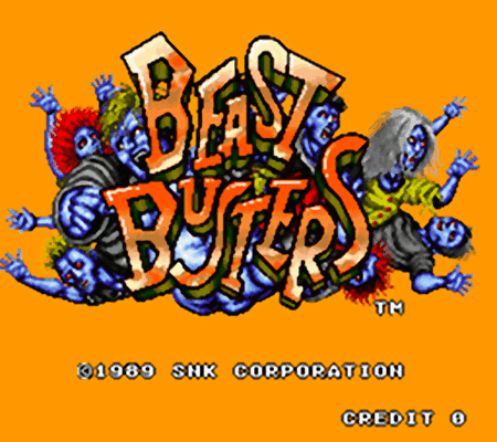 BEAST BUSTERS (c) 1989 SNK CORPORATION CREDIT 0