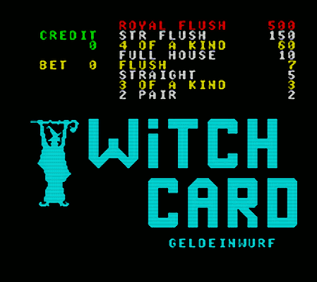 WITCH CARD - GELDEINWURF