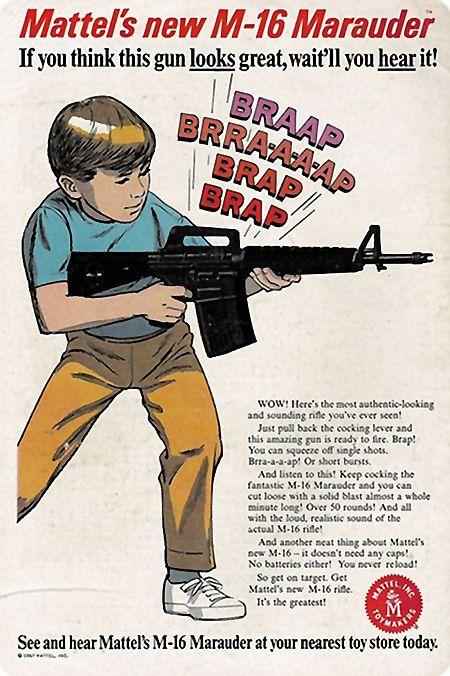 Mattel's new M-16 Marauder. If you think this gun looks great, wait'll you hear it!