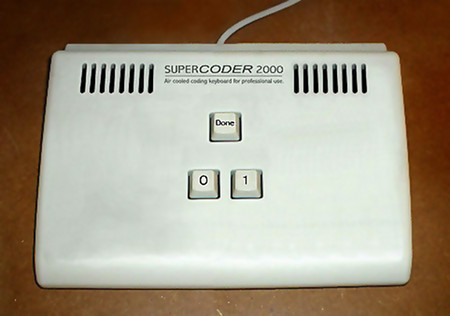 SUPERCODER 2000 -- Air cooled coding keyboard for professional use