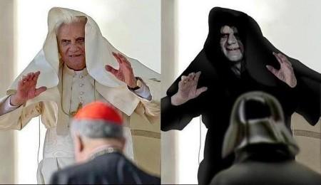 Der Papst ist der Meister auf der Dunklen Seite der Macht