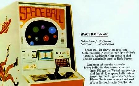 Space Ball ist ein völlig neuartiger Unterhaltungs-Automat, der Spielabläufe darstellt, die bisher nicht bekannt sind und die außerhalb unserer Erde liegen.