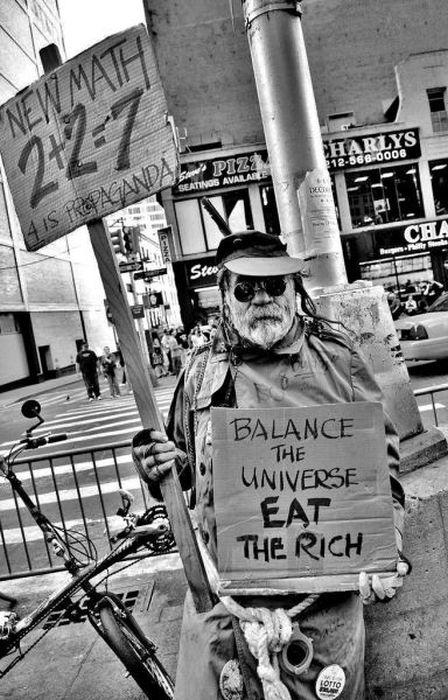 New Math: 2 + 2 = 7, 4 is propaganda -- Balance the universe, eat the rich!