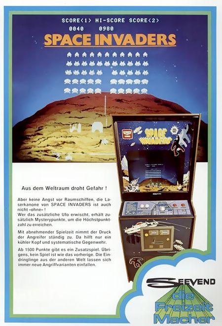 Werbung für Space Invaders