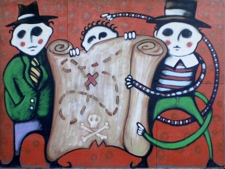 Schatzsucher, Graffito am Ihmezentrum