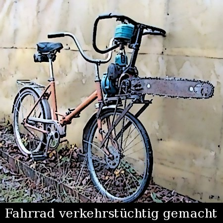 Fahrrad verkehrstüchtig gemacht
