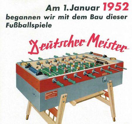 Am 1. Januar 1952 begannen wir mit dem Bau dieser Fußballspiele
