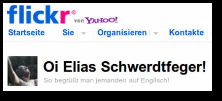 Oi Elias Schwerdtfeger! So begrüßt man jemanden auf Englisch!