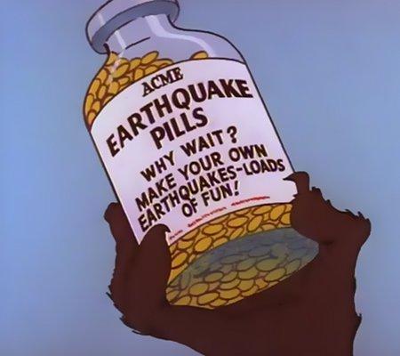 ACME Earthquake Pills - Why wait? Make your own earthquakes - loads of fun!