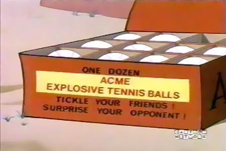 One dozen ACME EXPLOSIVE TENNIS BALLS - Tickle your friends! Surprise your opponent!