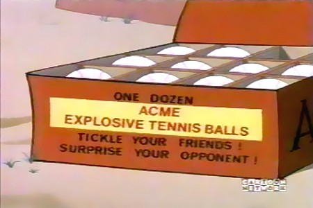 One dozen ACME EXPLOSIVE TENNIS BALLS - Tickle your friends! Surprise your opponent!
