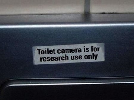 Toilet camera is for research use only