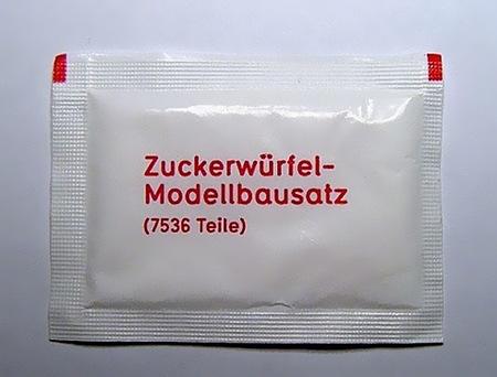 Zuckerwürfel-Modellbausatz, 7536 Teile