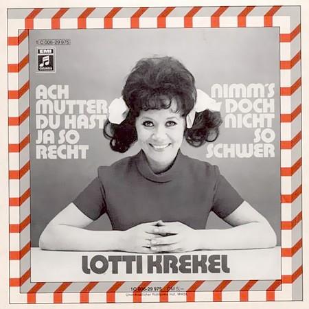 Plattencover: Lotti Krekel: Ach Mutter, du hast ja so recht und Nimms doch nicht so schwer