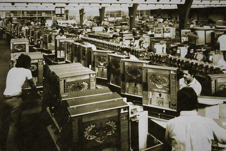 Automatenherstellung bei NSM-Automaten, heute Löwen-Automaten, in den Siebziger Jahren