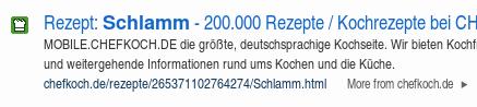 Schlamm, 200000 Rezepte, Kochrezepte