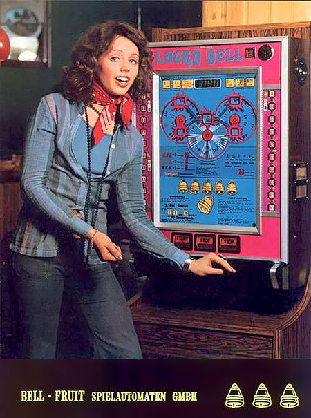 Bell-Fruit Spielautomaten GmbH, Werbung aus dem Jahr 1975 für das Geldspielgerät Lucky Bell